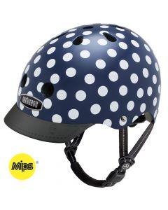 Nutcase - Street Navy Dots - MIPS - L - Fietshelm (60-64cm)
