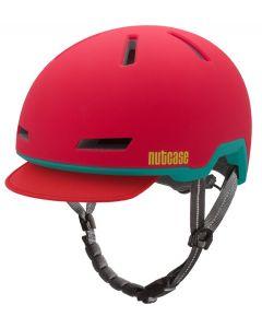 Nutcase - Tracer Ember Red Matte - M/L - Fietshelm (56-60 cm)