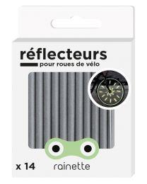 Rainette - Réflecteurs pour roues de vélo - Argent